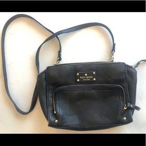 Kate Spade Cross Body Black Leather